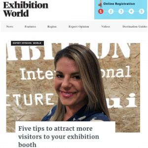 DDEx Exhibition World article
