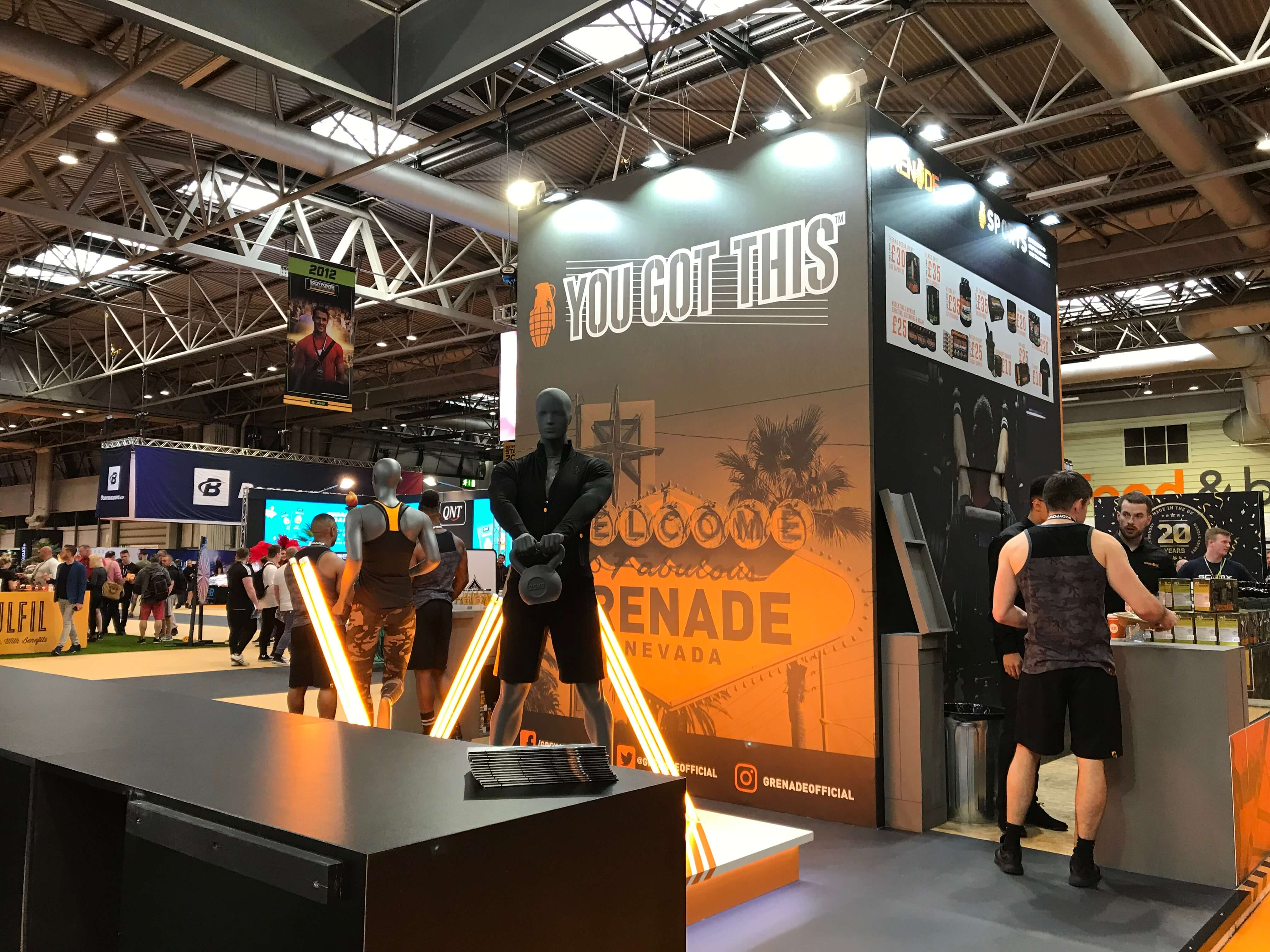 Grenade Body Powr Sport Show Stand Designs Manchester (1)