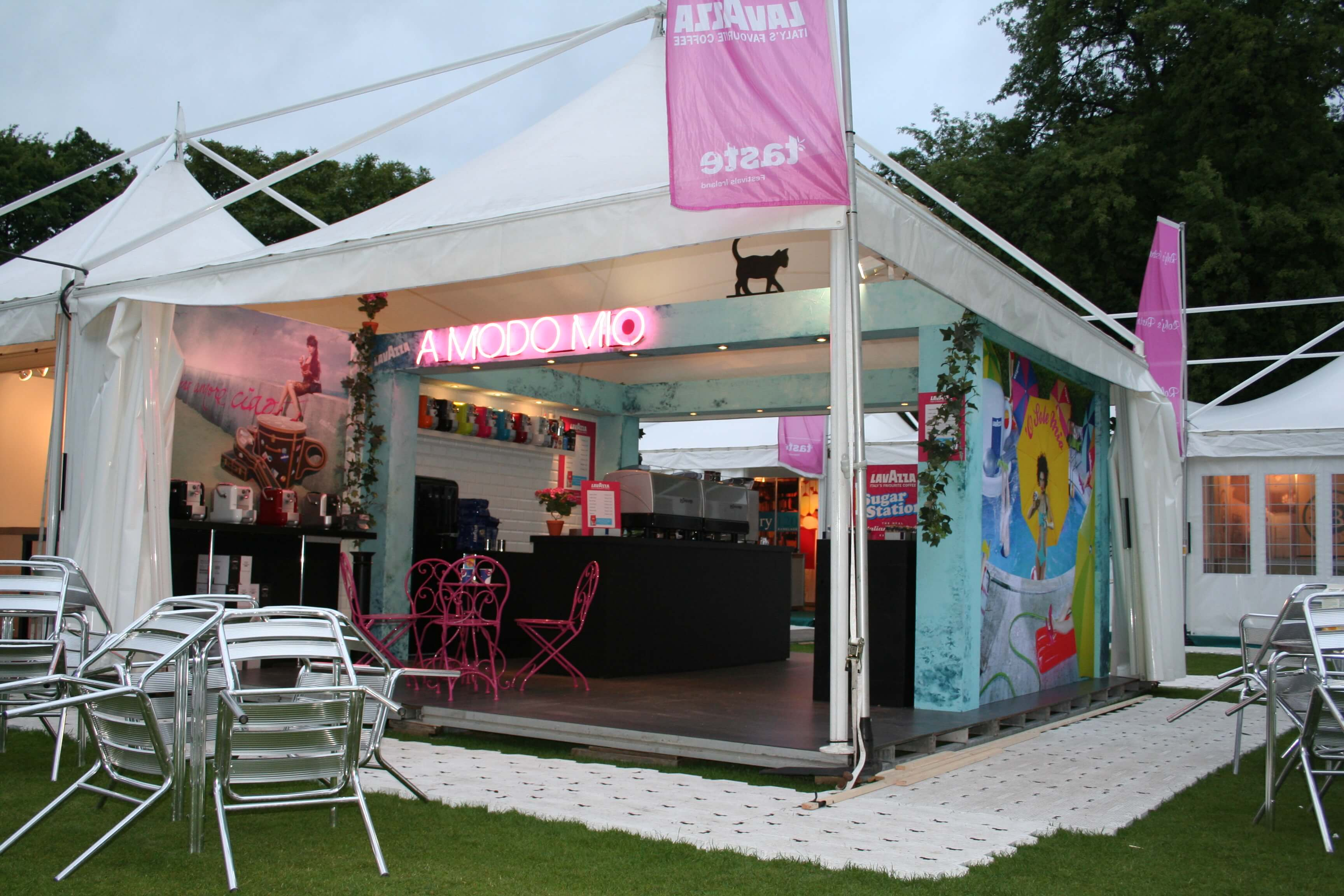 Music Festivals Exhibition Ideas - Lavazza Stand