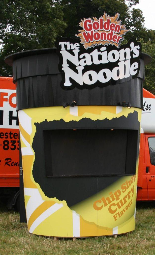 Music Festivals Exhibition Ideas- Pot Noodle Promotion Stand