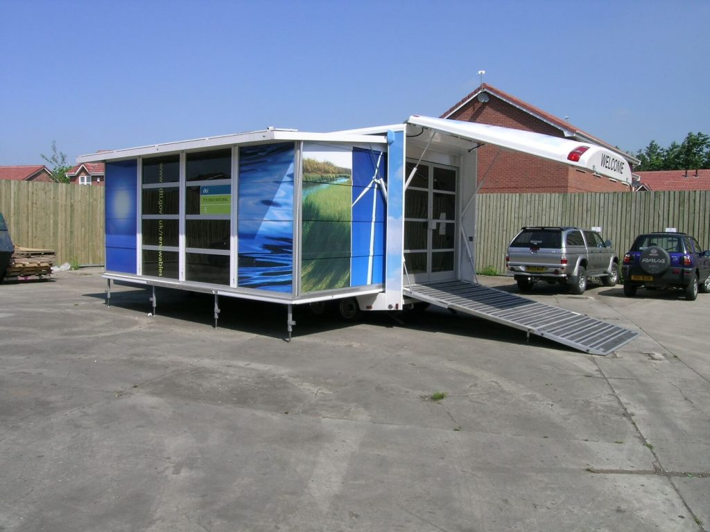 Outdoor exhibition stand design vehicle fitout