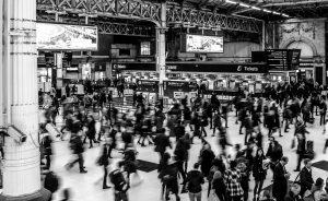exhibition centre crowds